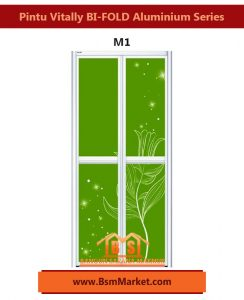 Pintu Vitally BI-FOLD Aluminium Series M1