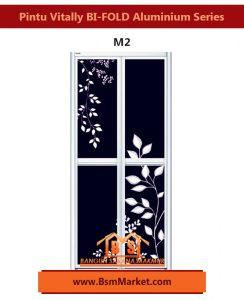 Pintu Vitally BI-FOLD Aluminium Series M2