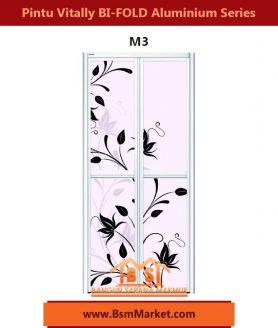 Pintu Vitally BI-FOLD Aluminium Series M3
