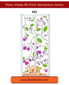 Pintu Vitally BI-FOLD Aluminium Series M5