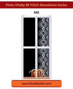 Pintu Vitally BI-FOLD Aluminium Series M8