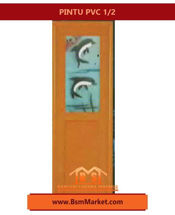 PINTU PVC 1/2 DESIGN STYLIST HARGA MURAH MERIAH