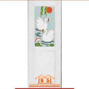 PINTU PVC 1 2 WARNA PUTIH DESIGN STYLIST HARGA MURAH MERIAH