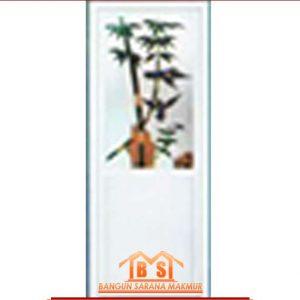pintu Alumix Motif bambu hijau