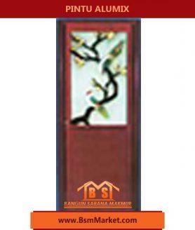pintu Alumix Motif batang daun