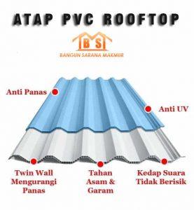 ATAP PVC ROOFTOP BSM MARKET SURABAYA