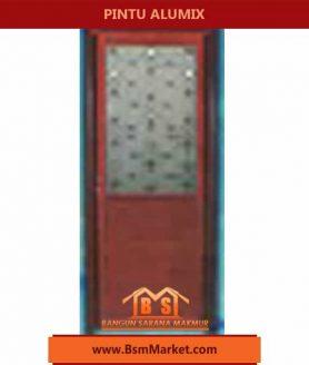 Pintu Alumix Coklat unik Motif Garis