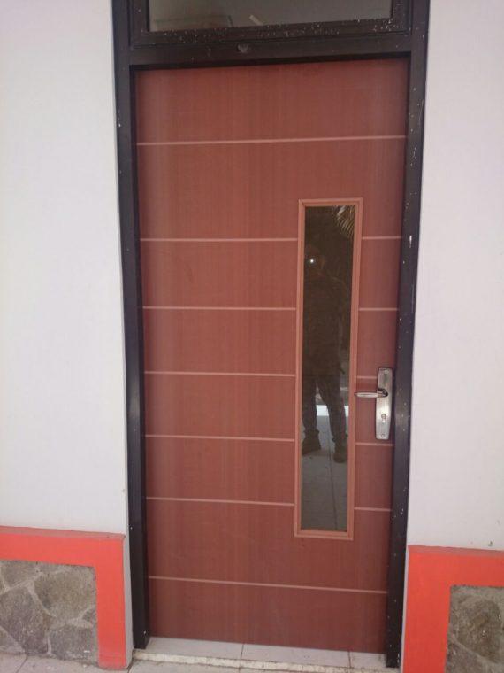 Pintu WPC Coklat Elegant
